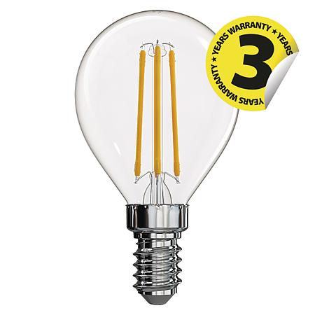 Bec LED Emos filament, forma de lumanare, E14, 4 W, 465 lm, lumina neutra 4100K