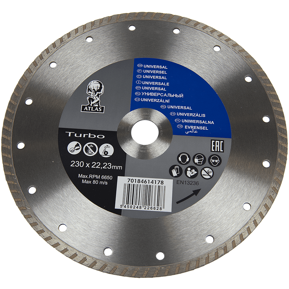Disc diamantat turbo Atlas 230x22,23x2,6 mm mathaus 2021