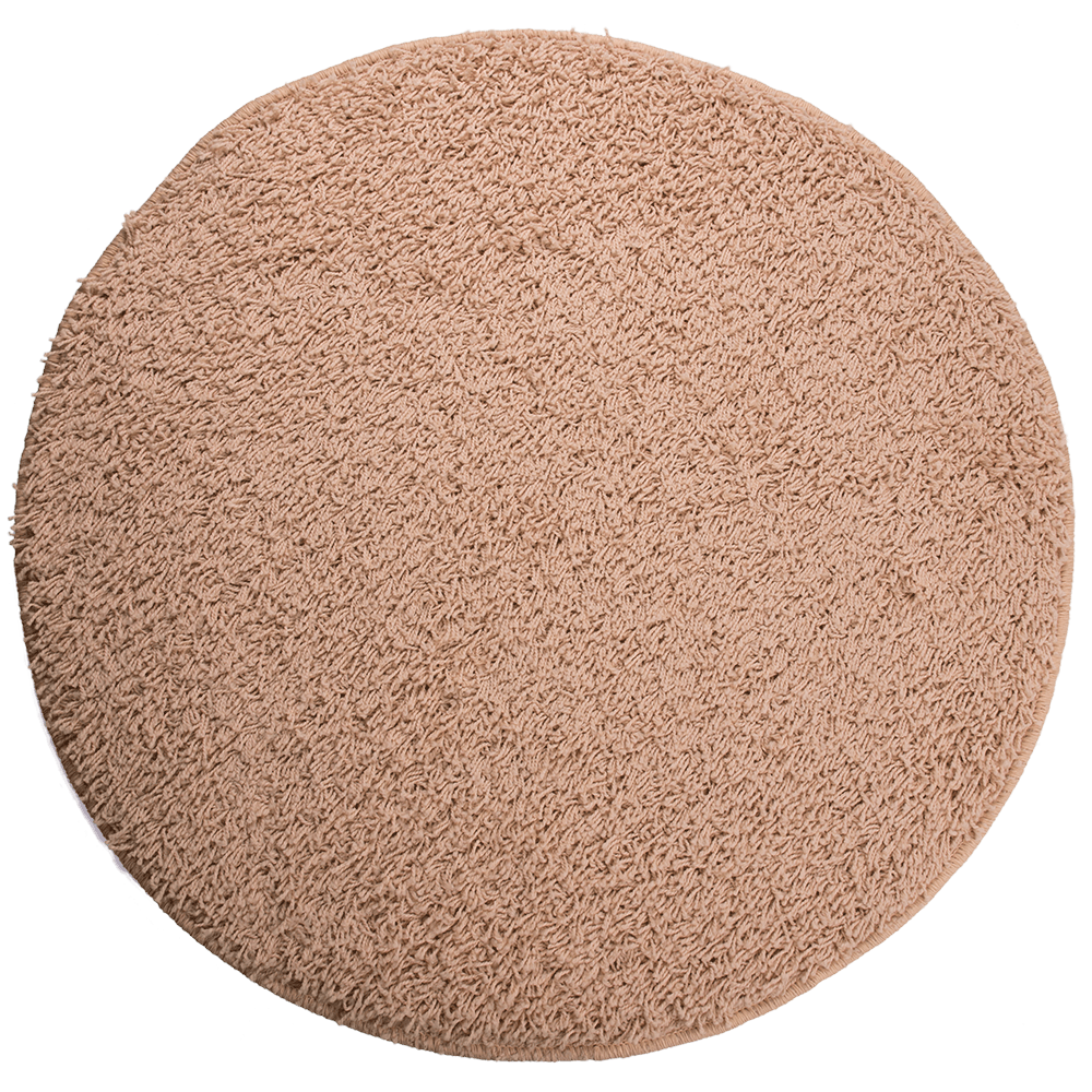 Covor rotund Mistral, 100% polipropilena friese, model modern ivoriu 69, 133 cm