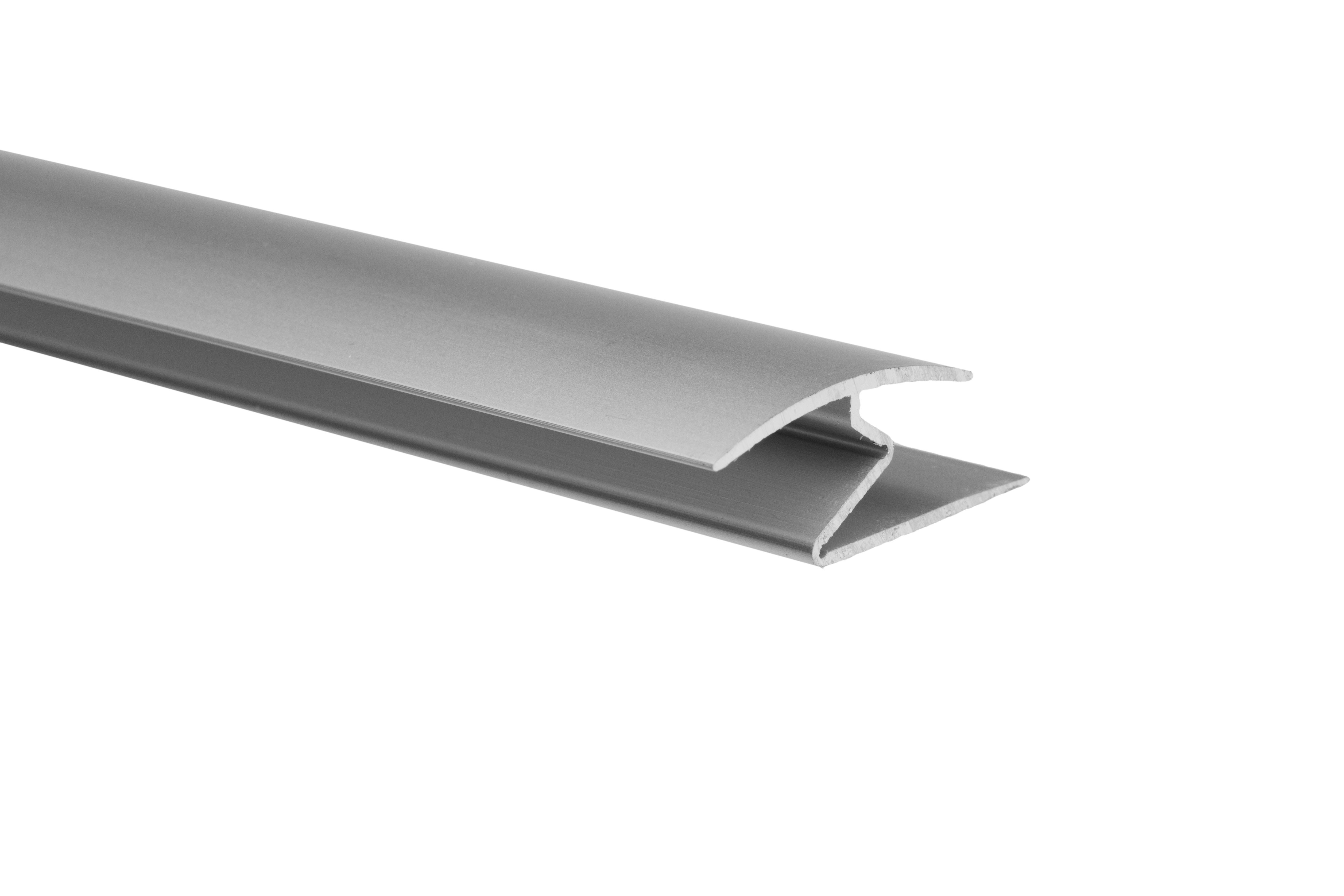 Profil de trecere cu surub mascat cu diferenta de nivel A69 Effector argint, 2,7 m