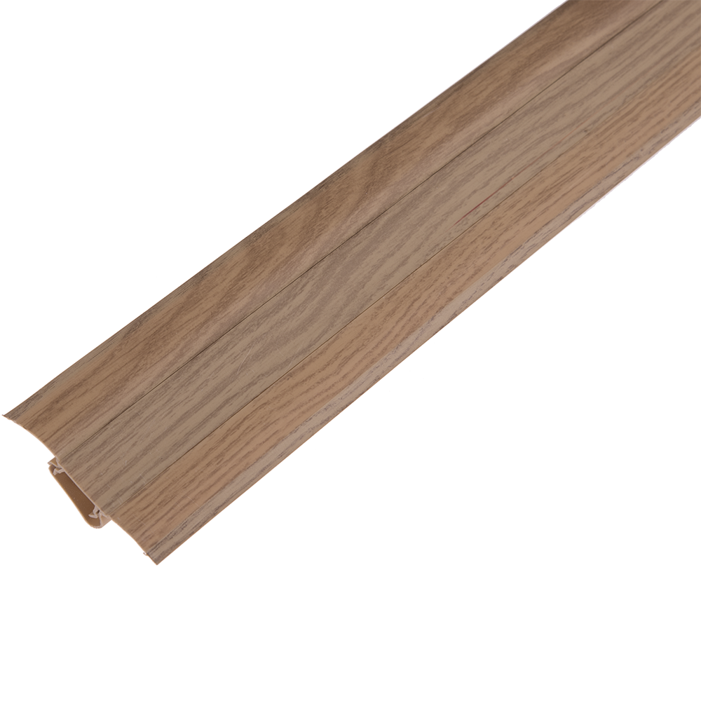 Plinta parchet, cu canal dublu, PVC, stejar savoyen, 2500 mm imagine MatHaus