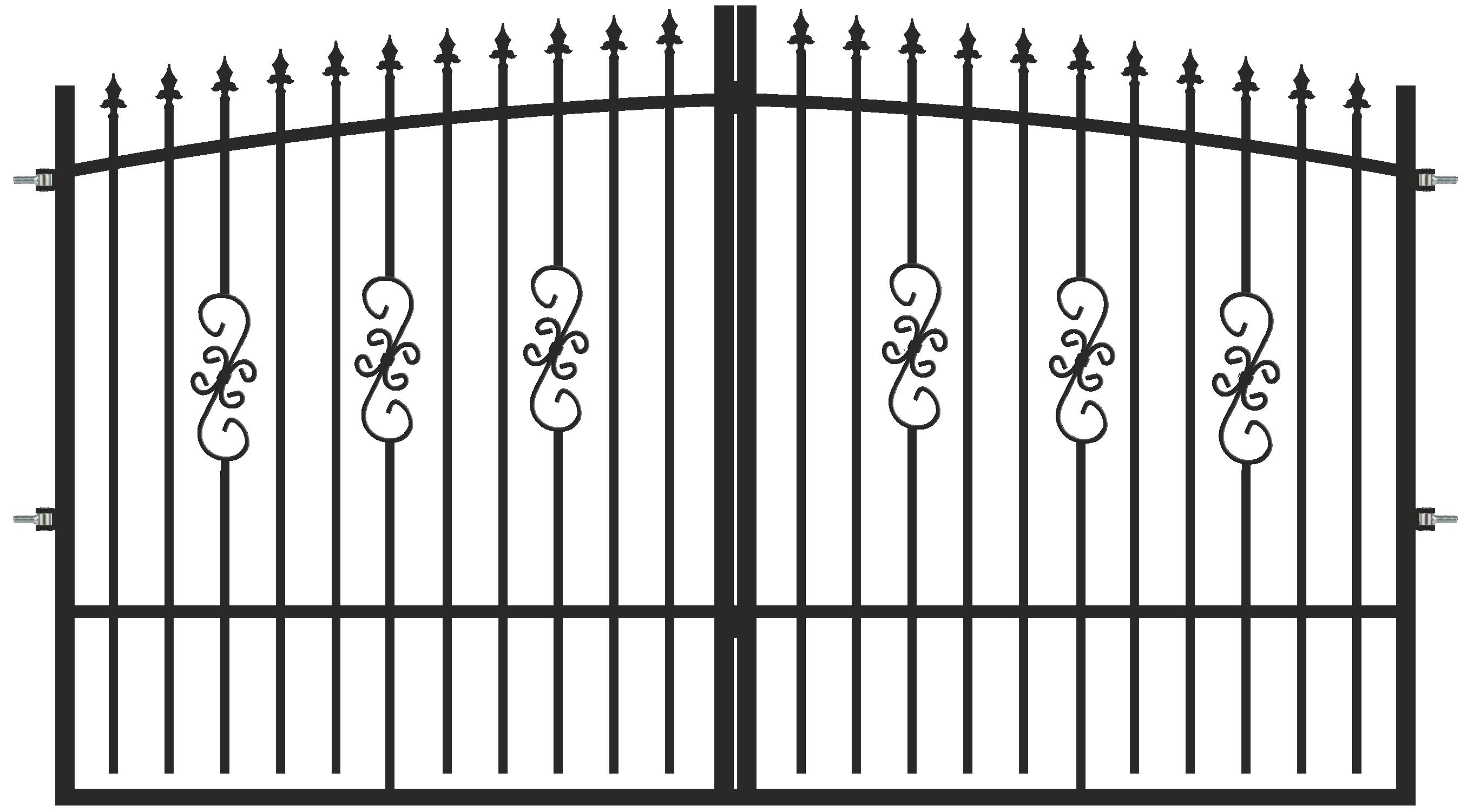 Poarta Morena, negru RAL 7016, 3 x 1,8 - 2 m