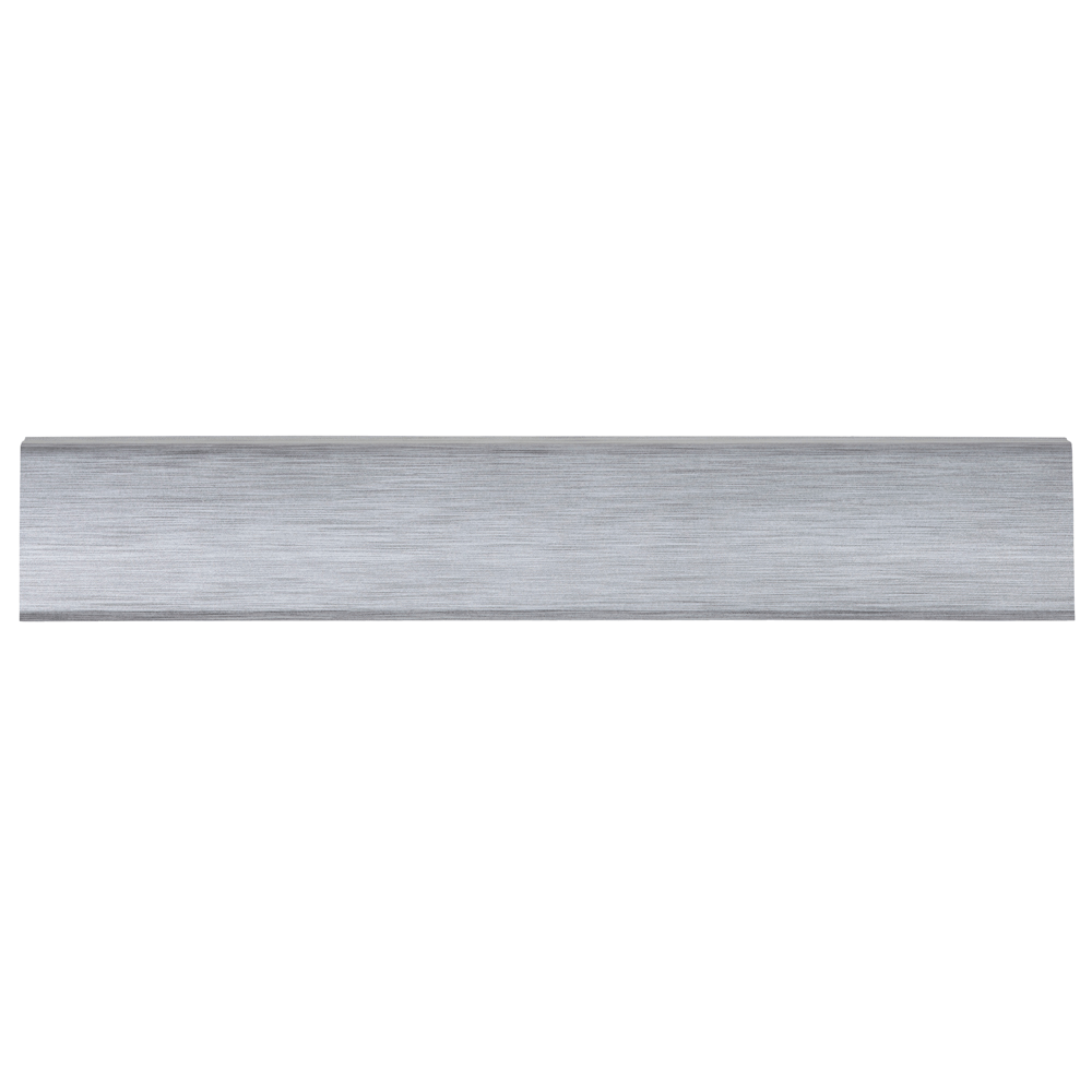 Plinta parchet, cu canal de cablu, PVC, aluminiu, INDO 70, 2500 mm imagine MatHaus