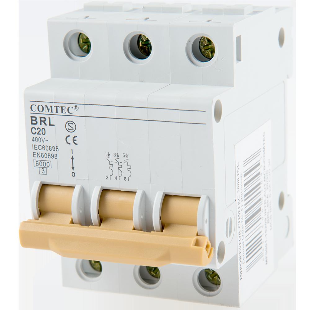Intrerupator automat MCB 6Ka 20/3/C Comtec mathaus 2021