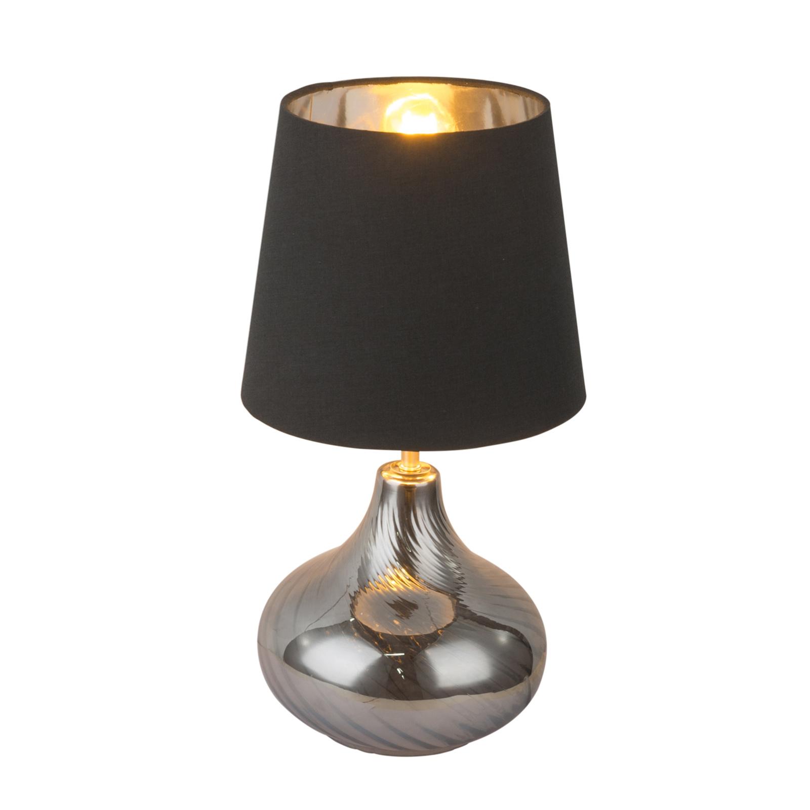 Lampa sticla Johanna, 1 x E27, max. 60W, ambra + negru imagine 2021 mathaus