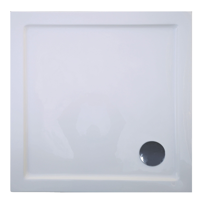 Cadita de dus Sanotechnik B80 Elite, acril, alb, patrata 80 x 80 x 12 cm imagine 2021 mathaus