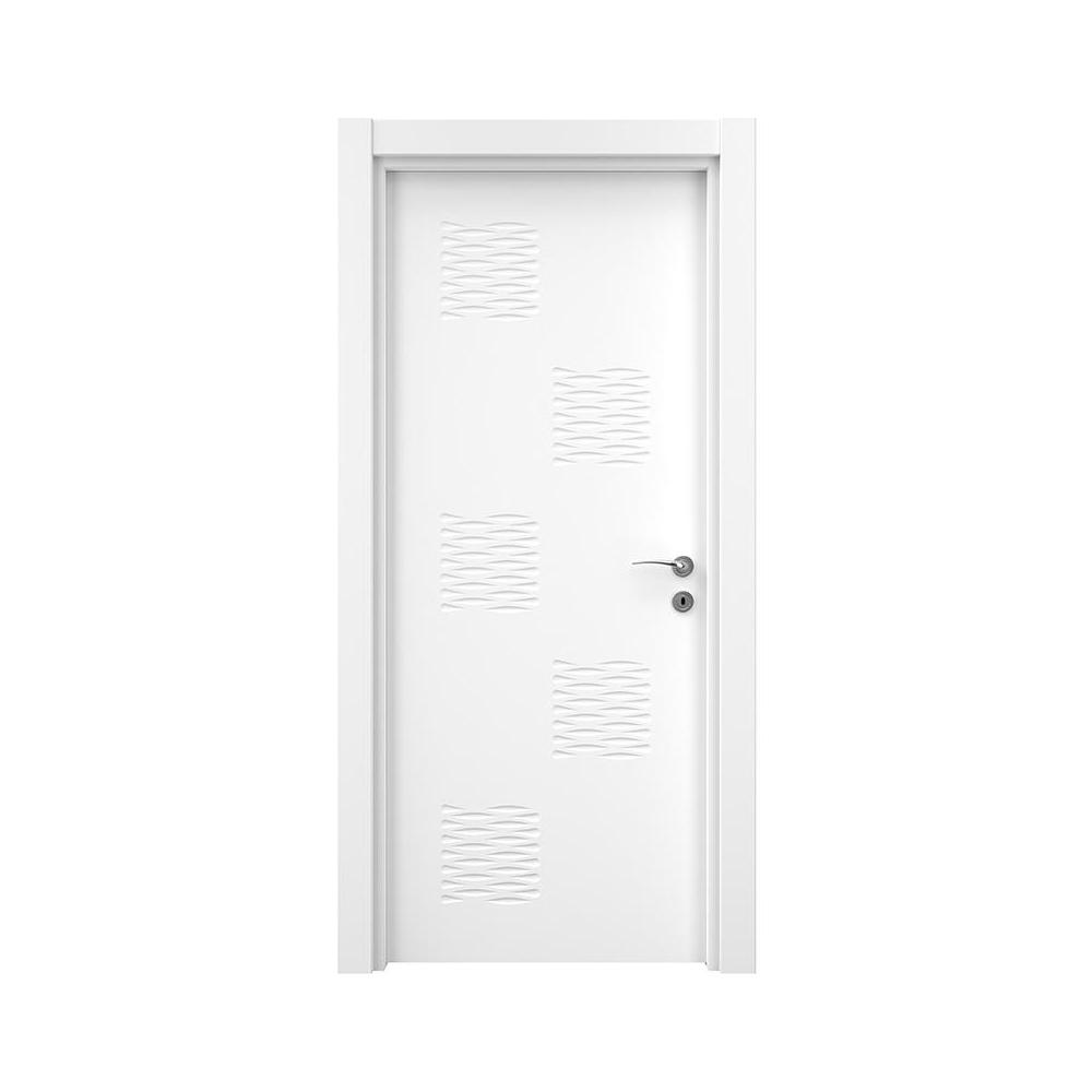 Usa interior plina, Variodor Lacquered White, alb lacuit, 198 x 80 cm, stanga