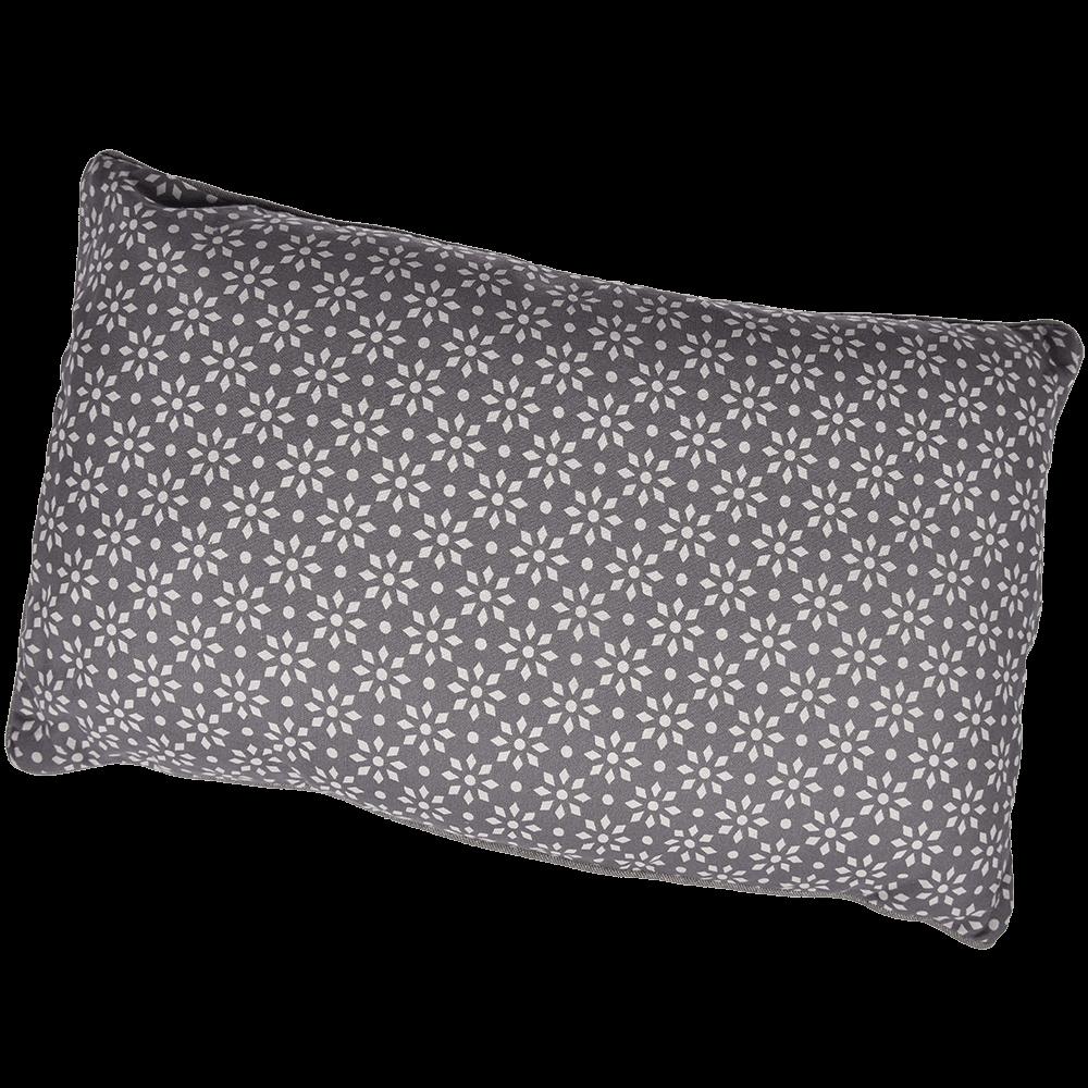 Perna decorativa Mosaik, bumbac 100%, gri, 30 x 50 cm, dreptunghiulara, model geometric mathaus 2021