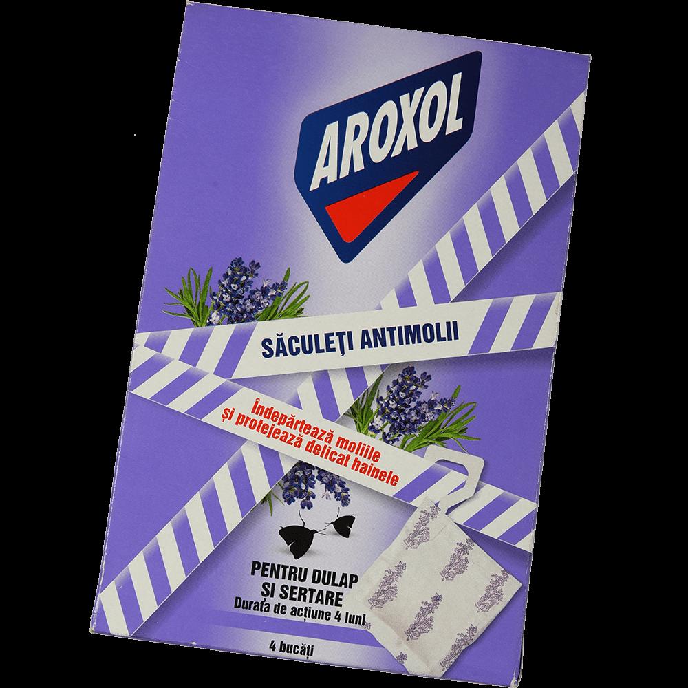 Saculeti antimolii Aroxol Lavanda, 4 buc