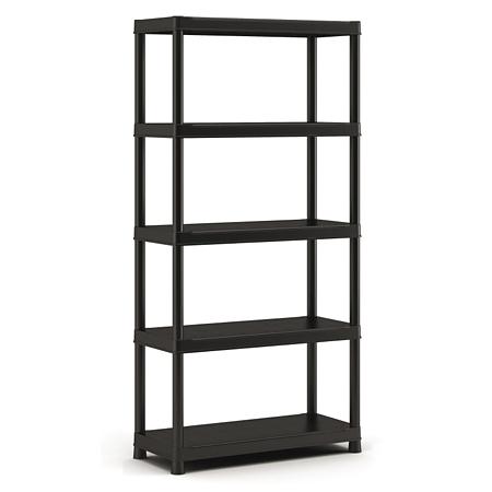 Raft pentru depozitare din polipropilena, Keter Plus Shelf, 5 polite, 55 kg/polita, 90 x 40 x 182 cm
