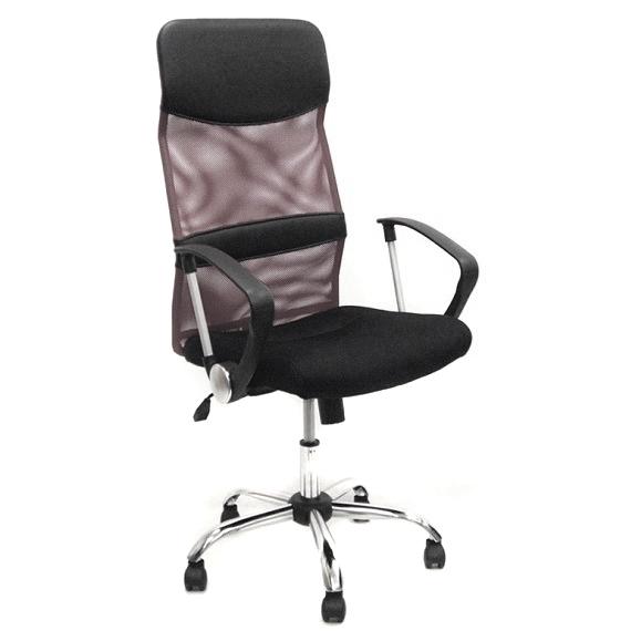 Scaun birou directorial CMX935, reglabil, piele ecologica, stofa mesh, negru imagine MatHaus.ro