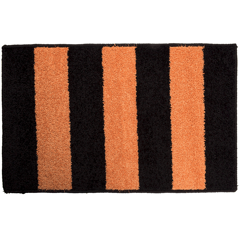 Covor dreptunghiular Riviera 50 x 80 cm negru/orange imagine MatHaus