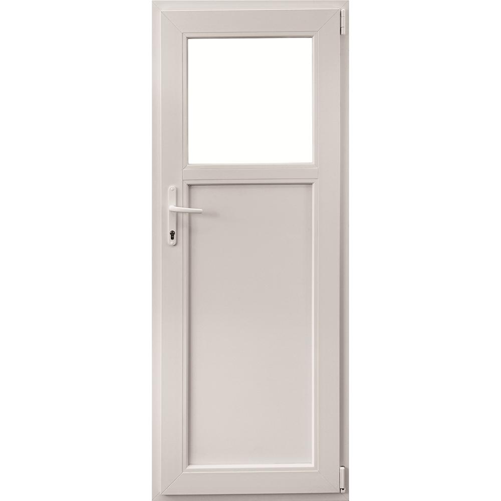 Usa PVC secundara, alba, 76 x 204 cm, dreapta imagine 2021 mathaus