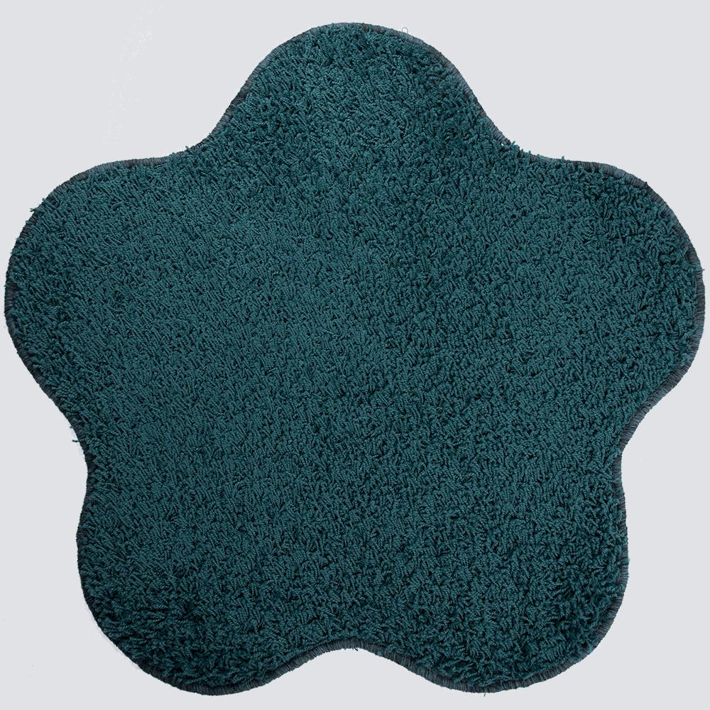 Covor modern Mistral, polipropilena, model floare aqua albastru 46, 80 cm imagine MatHaus