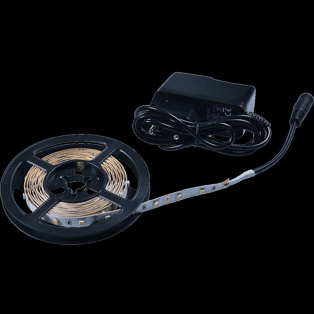 Kit cu banda LED Flink si adaptor, alb-cald, 60 leduri/m, rola 2 m imagine 2021 mathaus