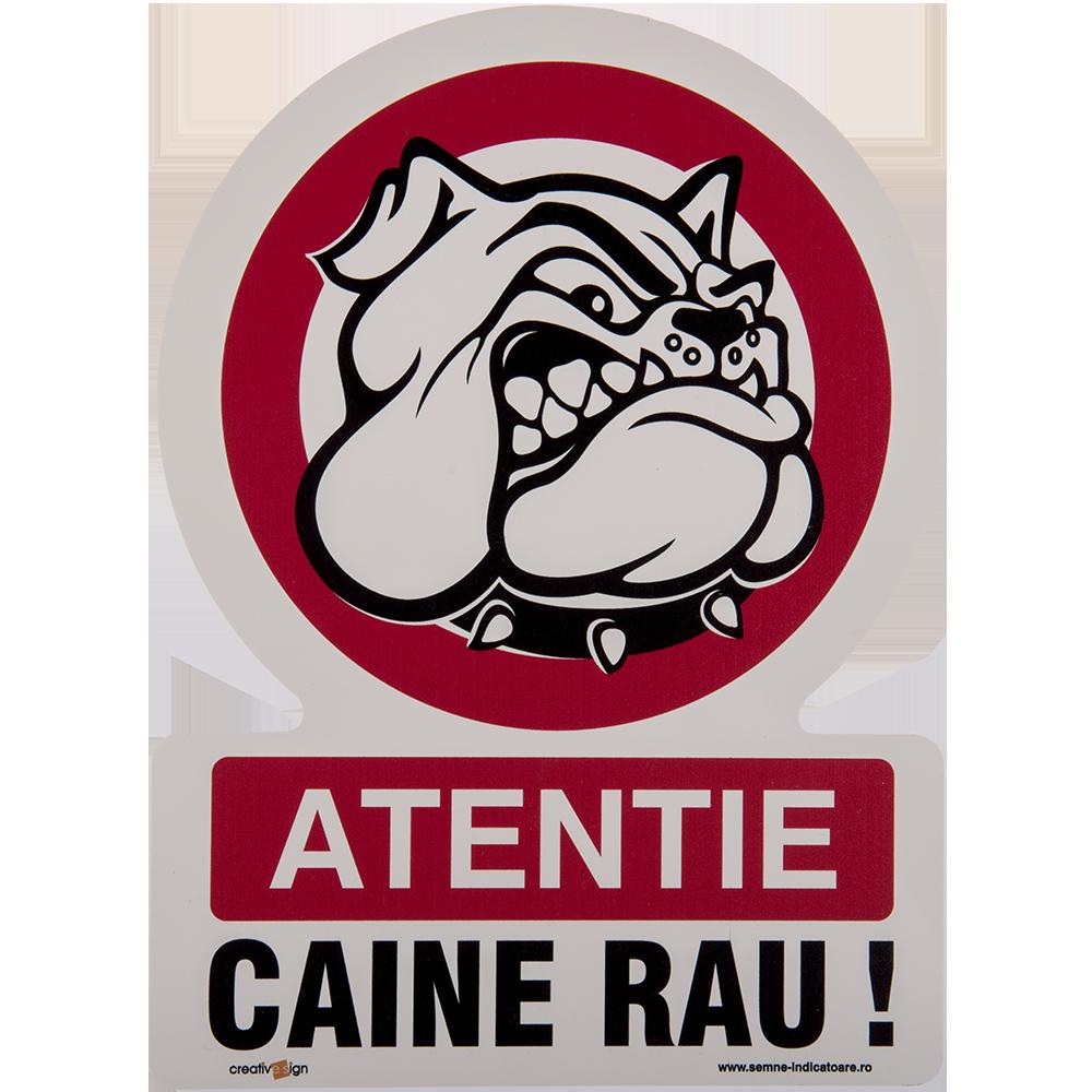 Semn Caine rau, PVC, 20 x 30 cm mathaus 2021