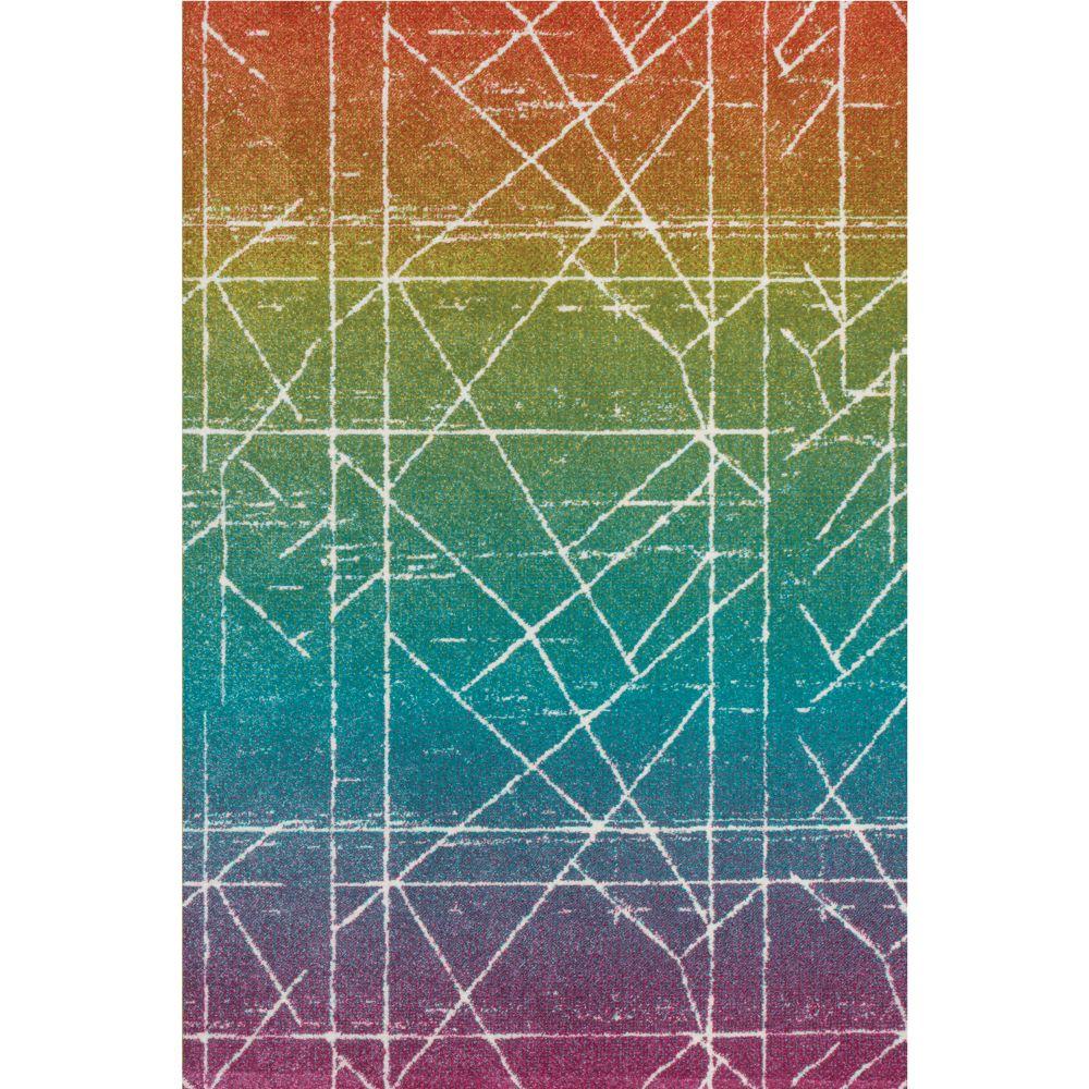 Covor modern Sintelon Play 43PMP, polipropilena, model geometric multicolor, 80 x 150 cm imagine MatHaus