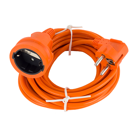 Prelungitor fisa-cupla Strohm, PP+PVC, portocaliu, 5 m