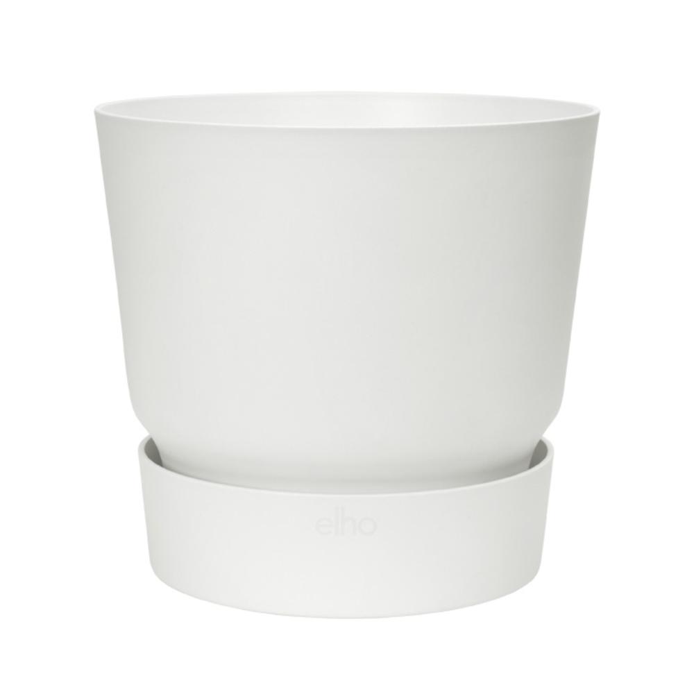 Ghiveci Elho Greenville, plastic, alb, 7.6 l, diametru 24.5 cm, 23.1 cm imagine MatHaus.ro