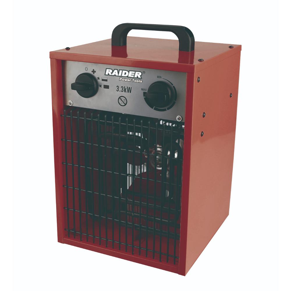 Aeroterma electrica Raider RD-EFH3.3, 3300W, 3 trepte, termostat mecanic, IP24, 27 x 25,5 x 40 cm imagine 2021 mathaus
