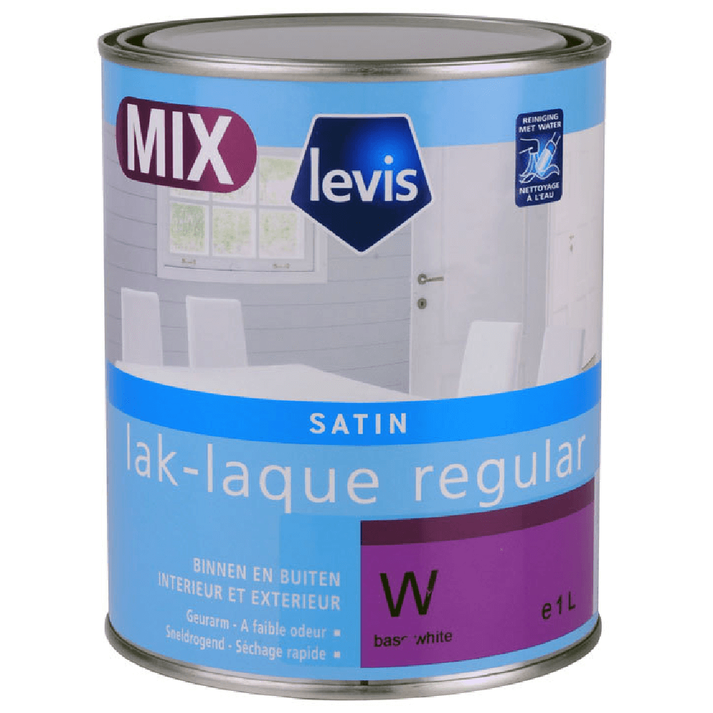 Vopsea acrilica satinata Levis LAK Regular Satin Mix, 1 l imagine MatHaus
