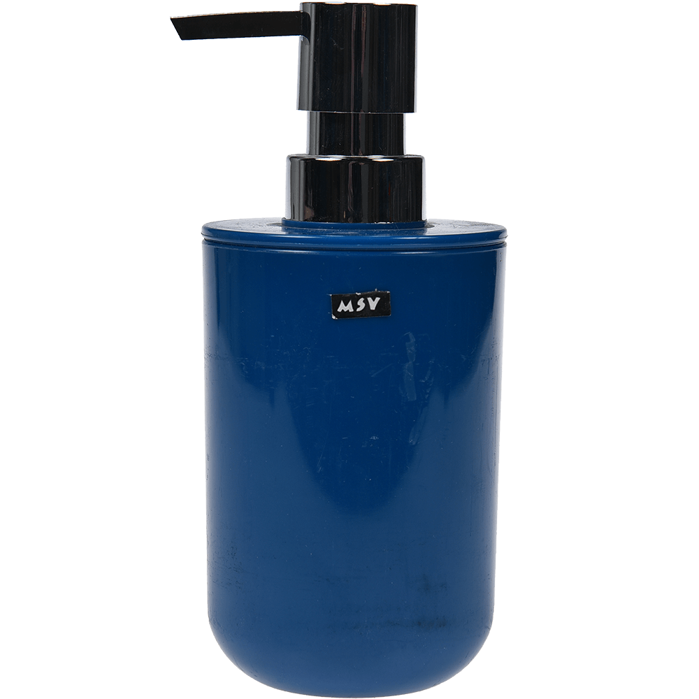 Dozator sapun lichid Inagua, plastic, albastru, 7,2 x 16 cm