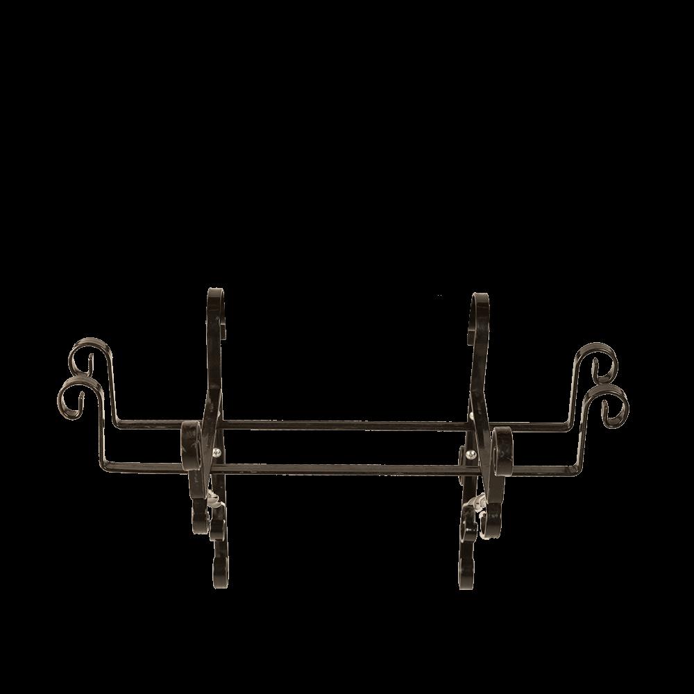 Suport jardiniera, 40 cm, fier forjat, negru, model artizanal