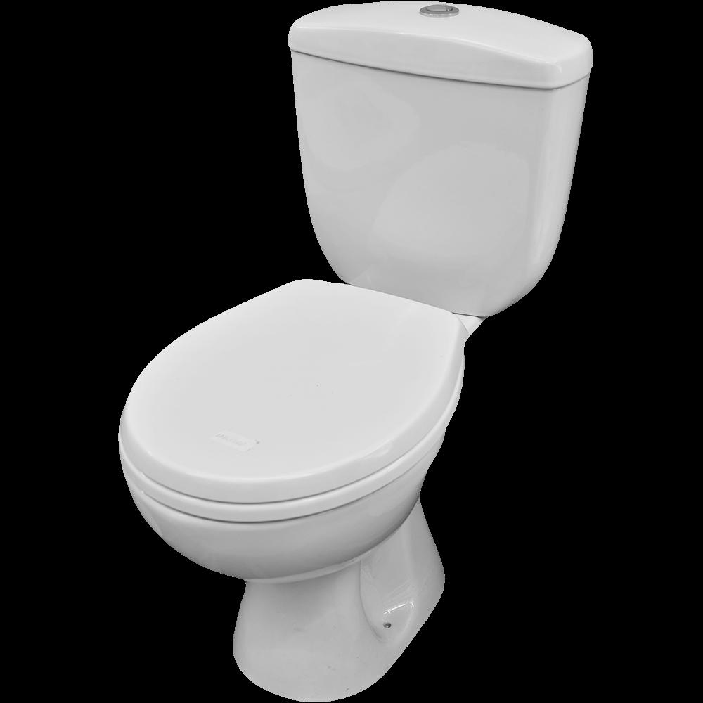 Vas WC, rezervor WC cu functie de bideu, capac WC, ceramica, evacuare orizontala, alb mathaus 2021