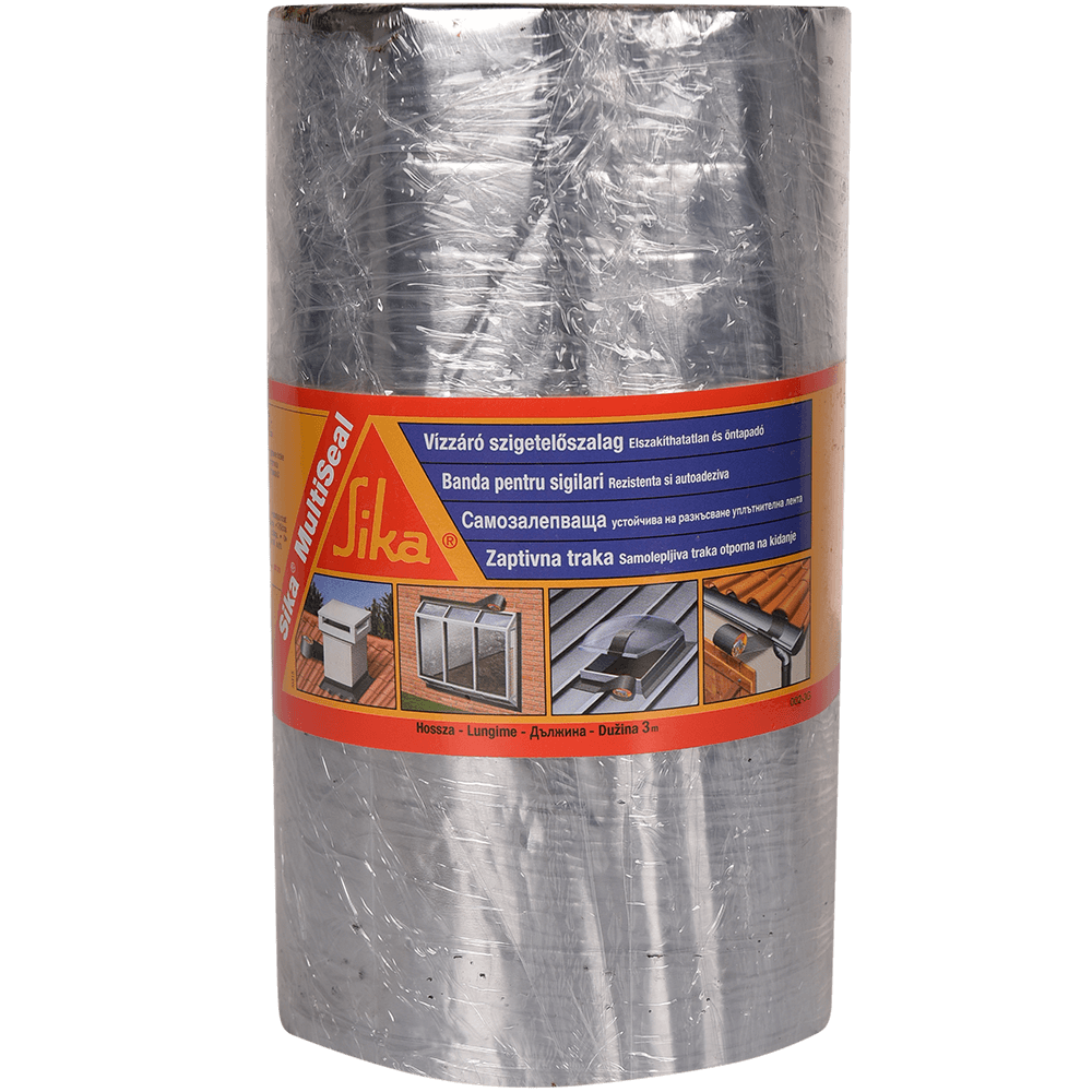 Banda sigilanta autoadeziva, Sika Multiseal, 20 cm x 3 m, aluminiu