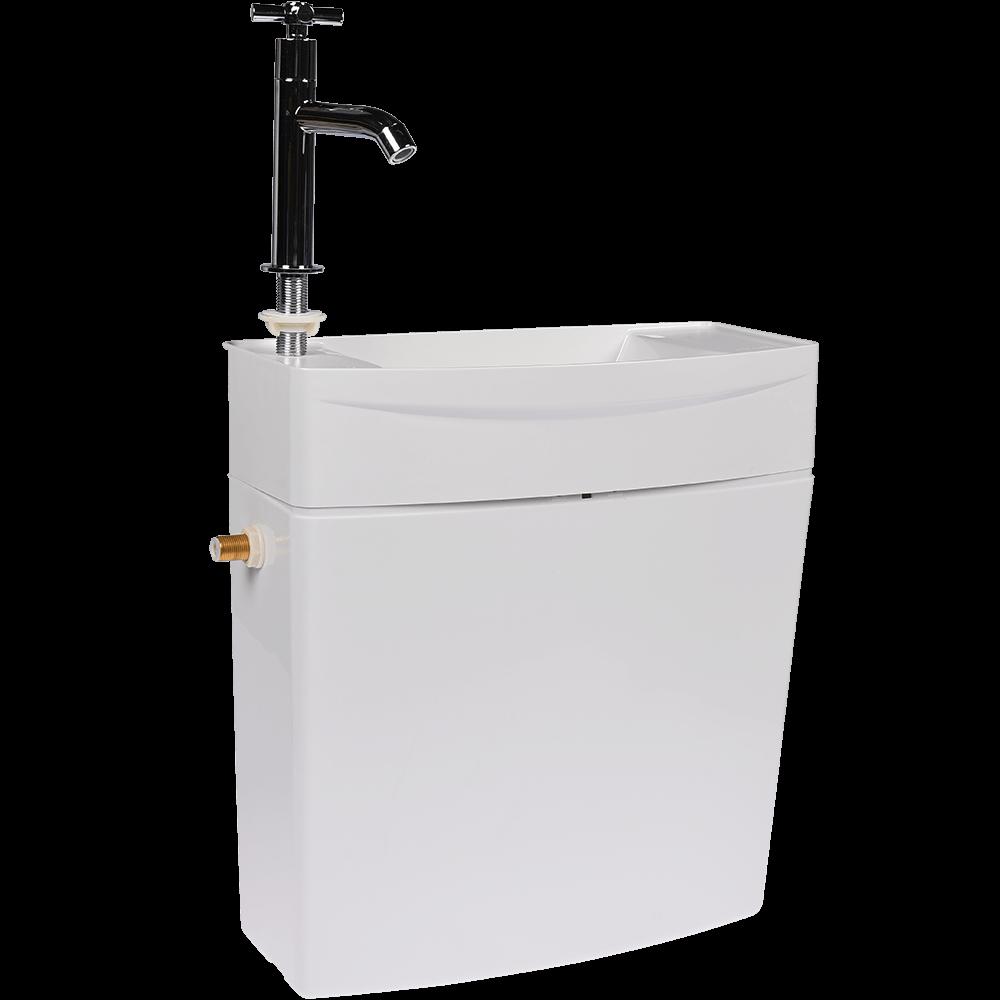 Rezervor cu lavoar incorporat, 3/6 l, alb imagine MatHaus.ro