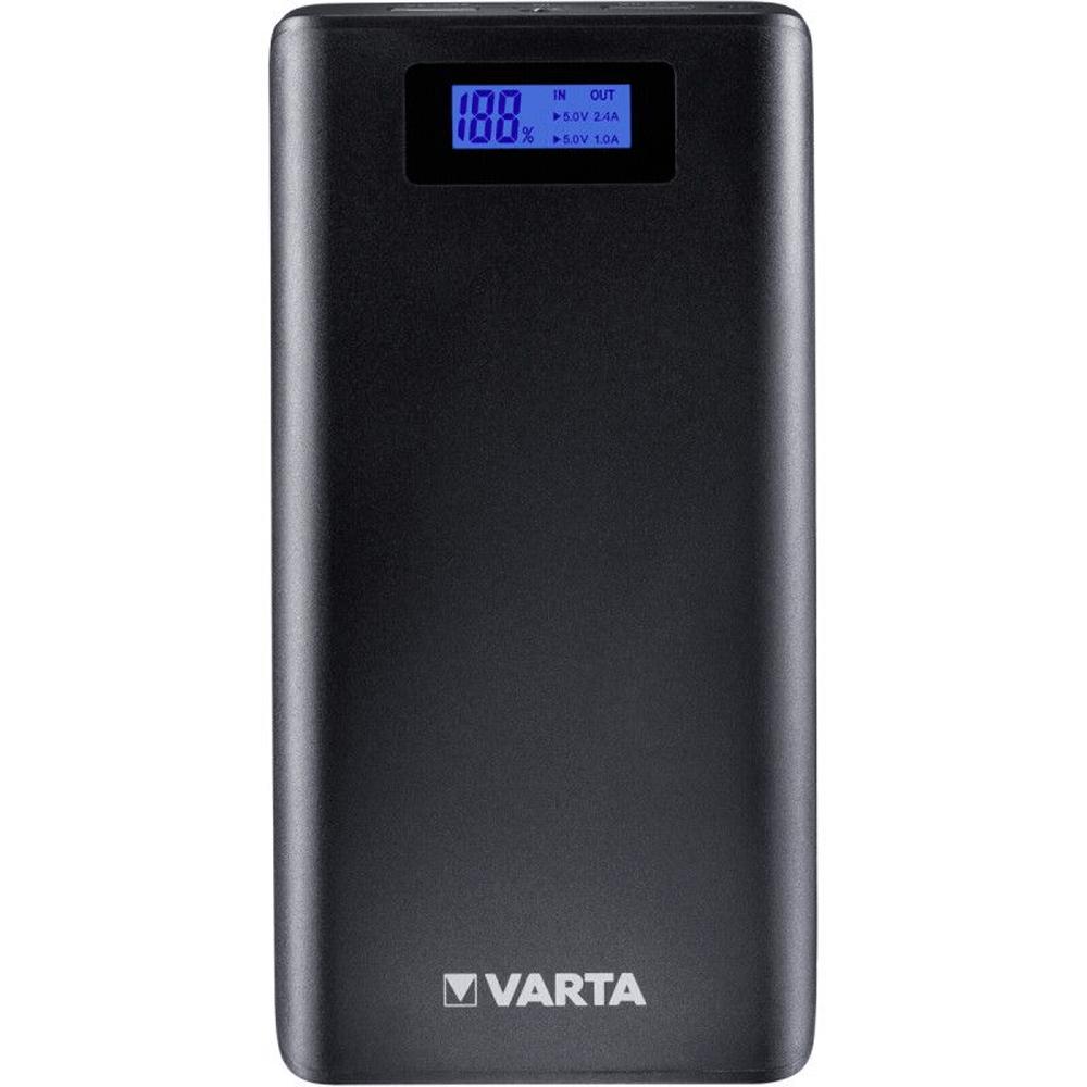 Baterie externa Varta LCD Power Bank 18200mAh, display LCD, port USB 2.4A si USB 1A, 395 g, Li-Ion, 82 x 161 x 22 mm mathaus 2021
