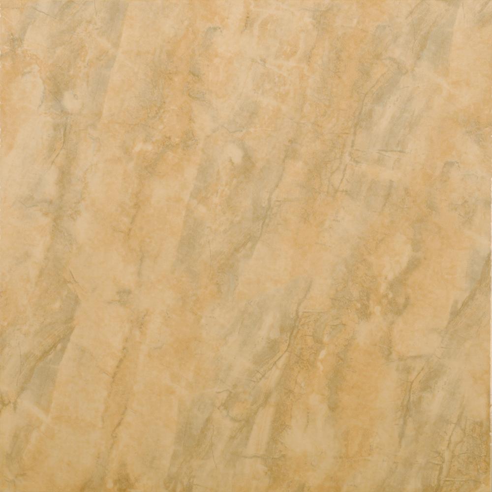 Gresie portelanata Kai Ceramics Sara galben lucios, patrata, 33,3 x 33,3 cm imagine MatHaus.ro