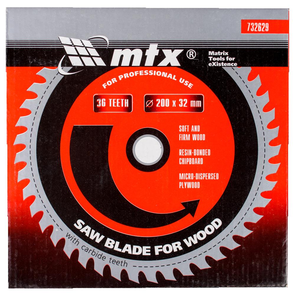 Disc debitare lemn, MTX, 200 х 32 mm, 36 dinti, bucsa 30/32