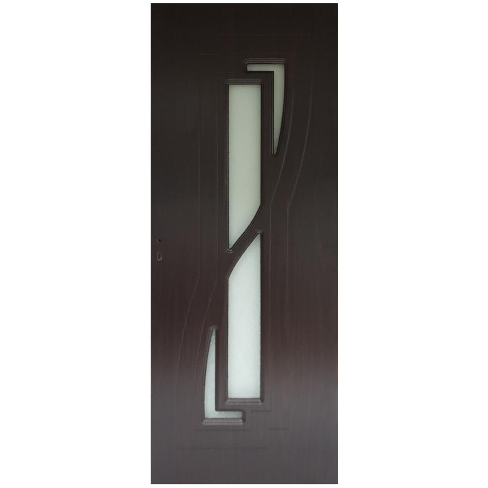 Usa interior cu geam Pamate M042, wenge, 203 x 70 x 3,5 cm + toc reglabil, reversibila mathaus 2021