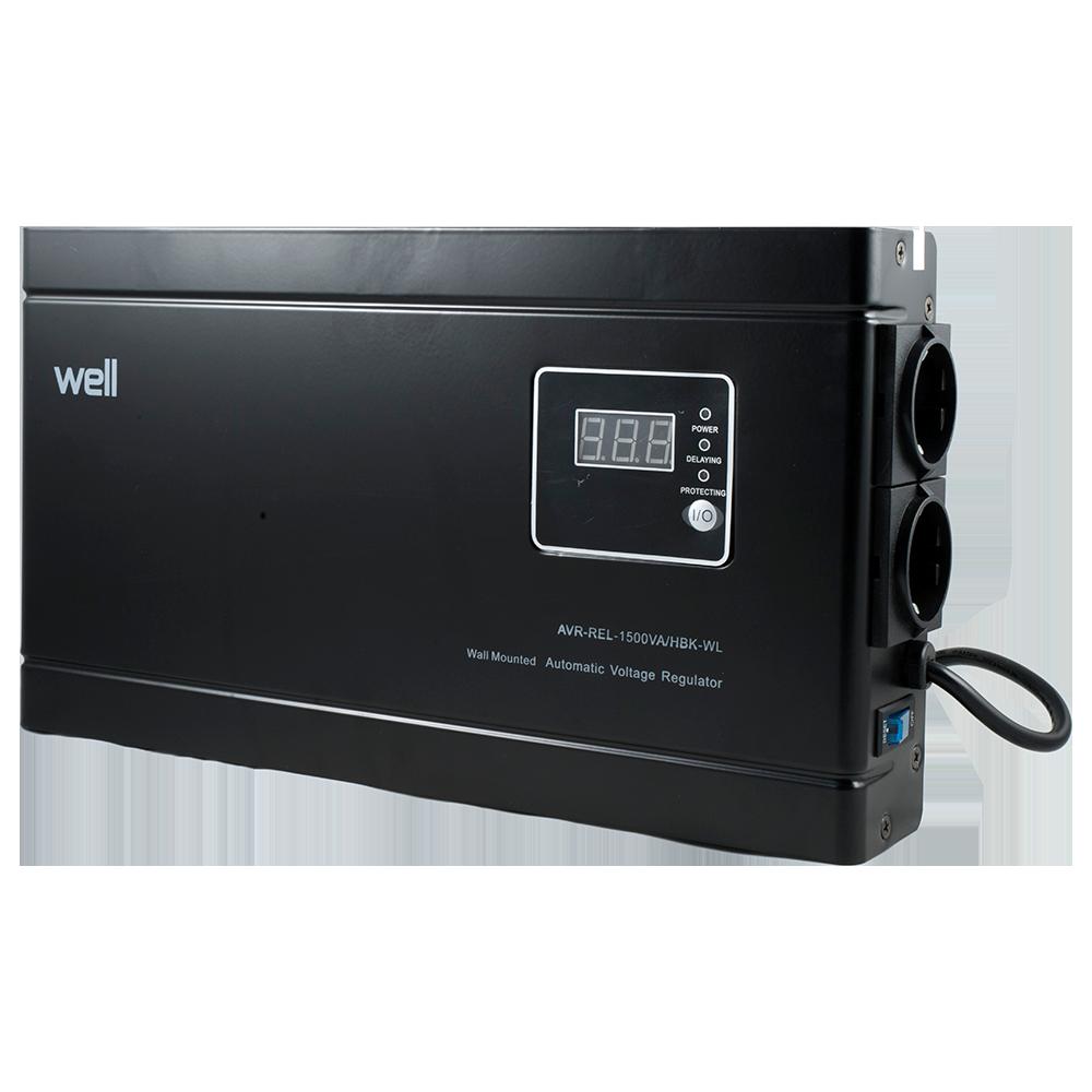 Stabilizator Automat de Tensiune Well - 1500VA/900W, frecventa intrare 45-65Hz imagine MatHaus