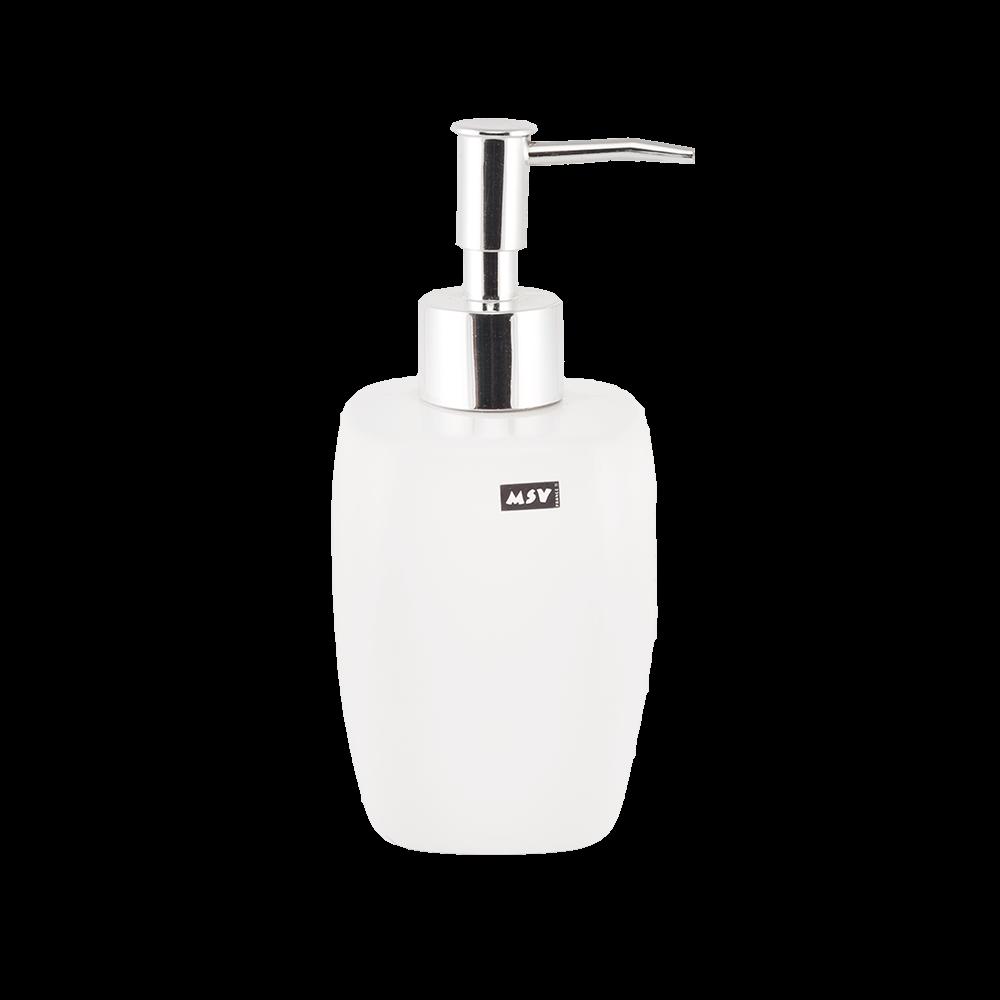 Dozator pentru sapun lichid RomTatay, ceramica, alb, 7 x 16,5 cm