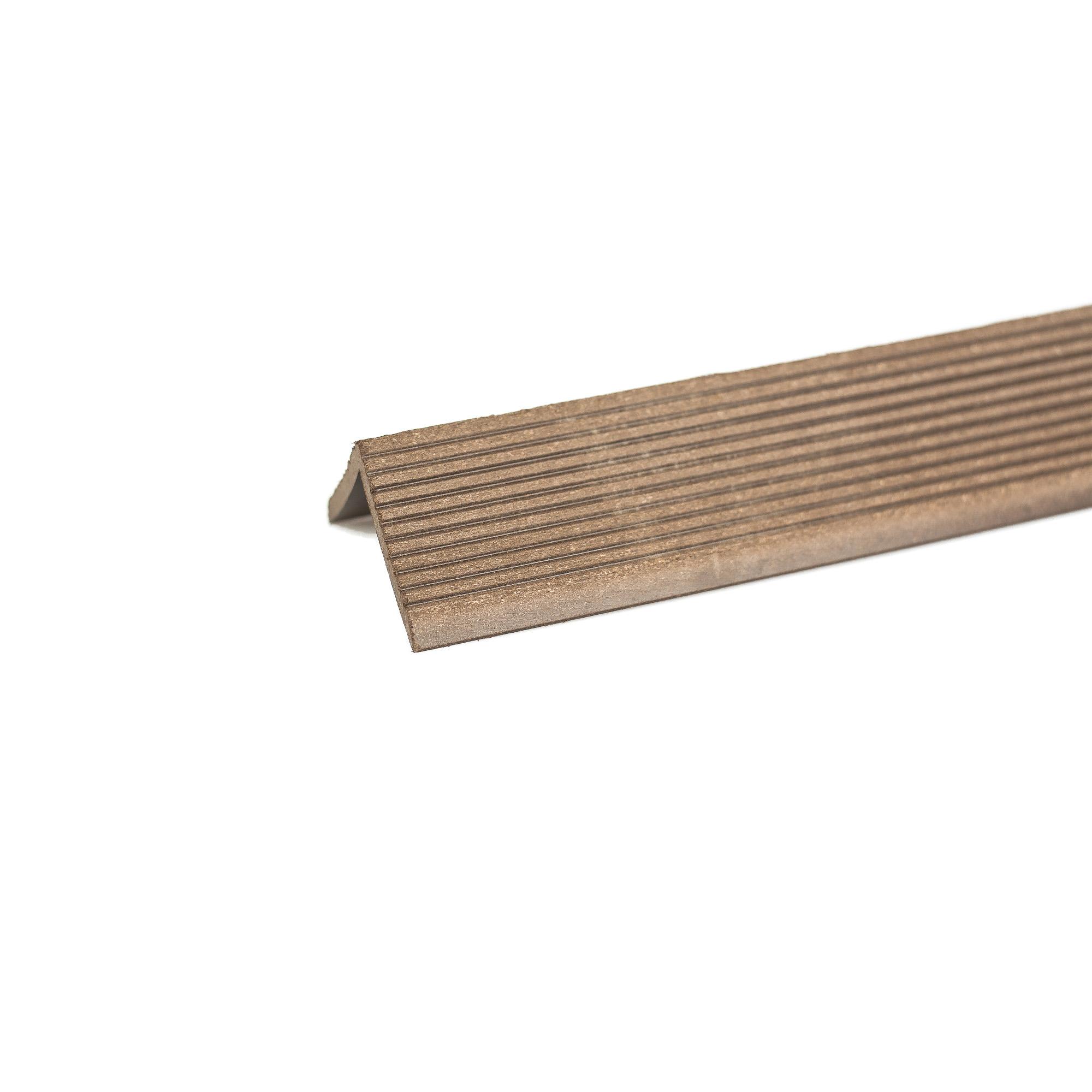 Profil colt WPC Bencomp, wenge, 50 x 50 x 2000 mm imagine MatHaus