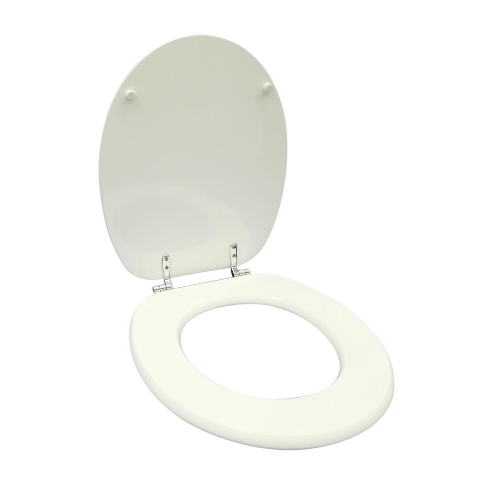 Capac pentru WC Savinidue CWAT, MDF, alb, balamale metalice
