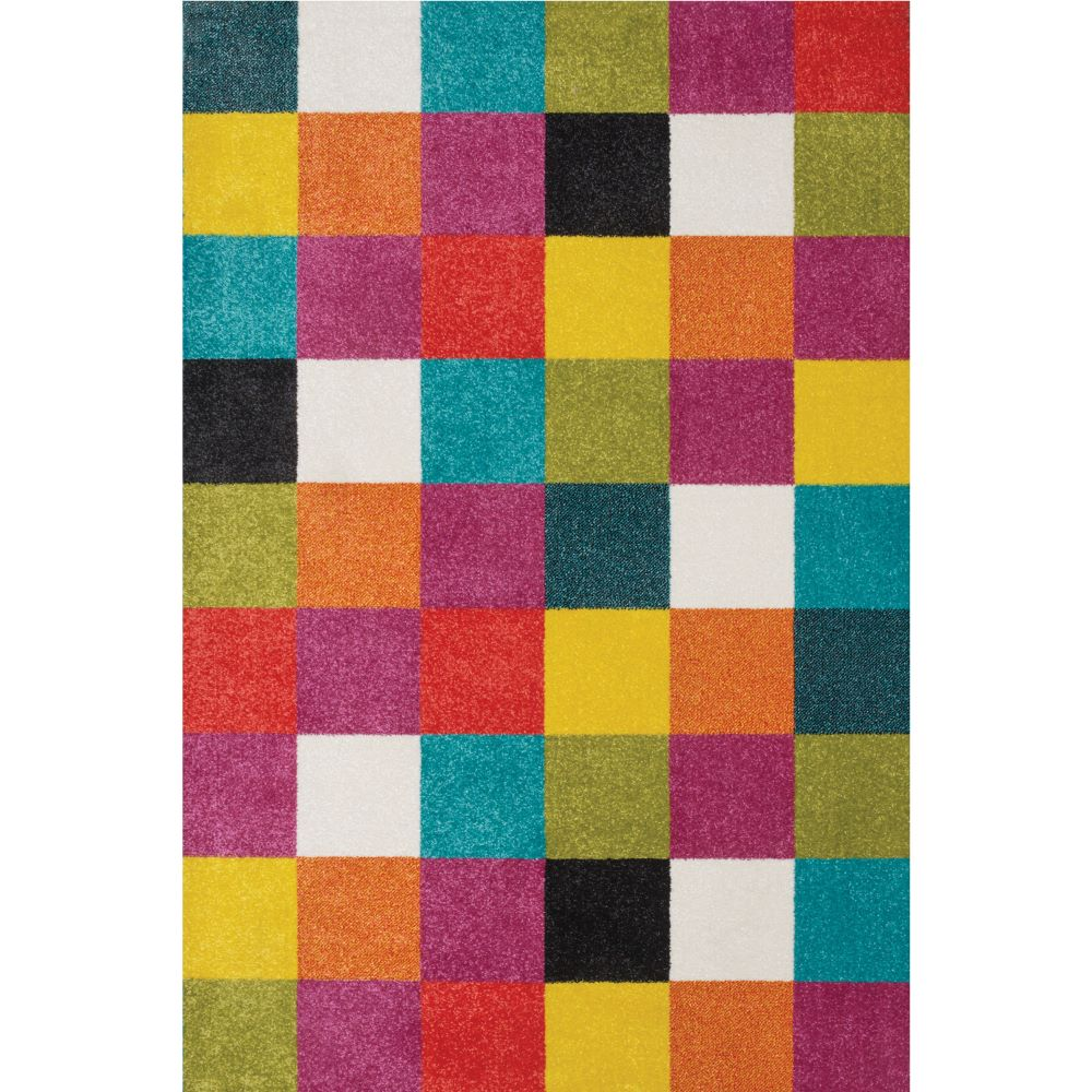 Covor copii Sintelon Play  08AMP, polipropilena, model geometric, multicolor, 160 x 230 cm imagine MatHaus.ro