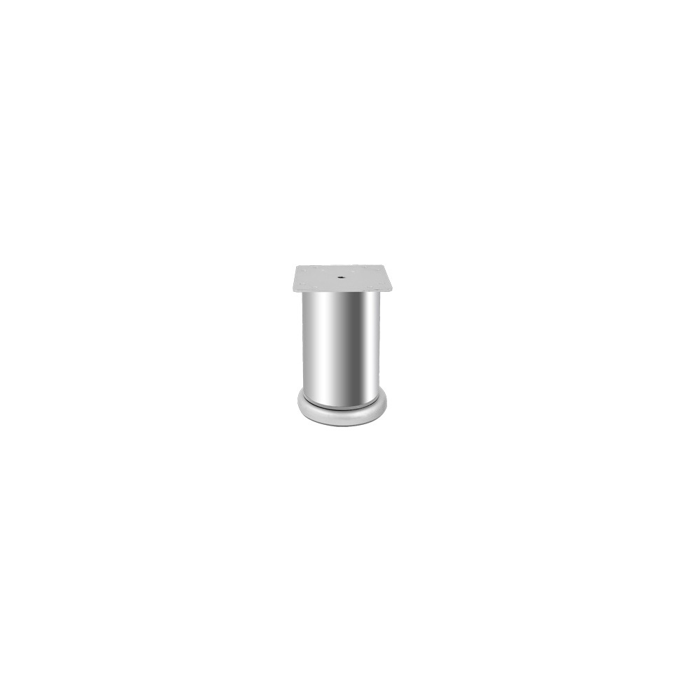 Picior mobila, metalic, baza din plastic reglabila, 76 x 70 mm imagine MatHaus.ro