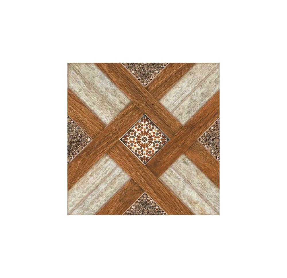 Gresie portelanata Dual Gres Castle Cerezo maro mat, patrata, 45 x 45 x 0,8 cm