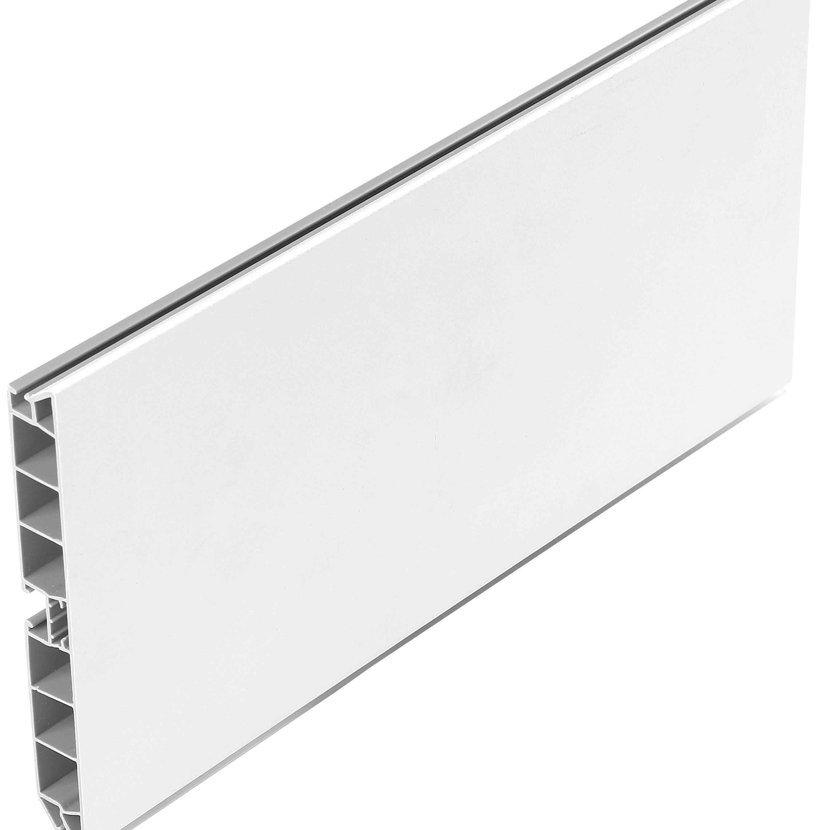 Plinta PVC, 100 mm x 4 m, alb