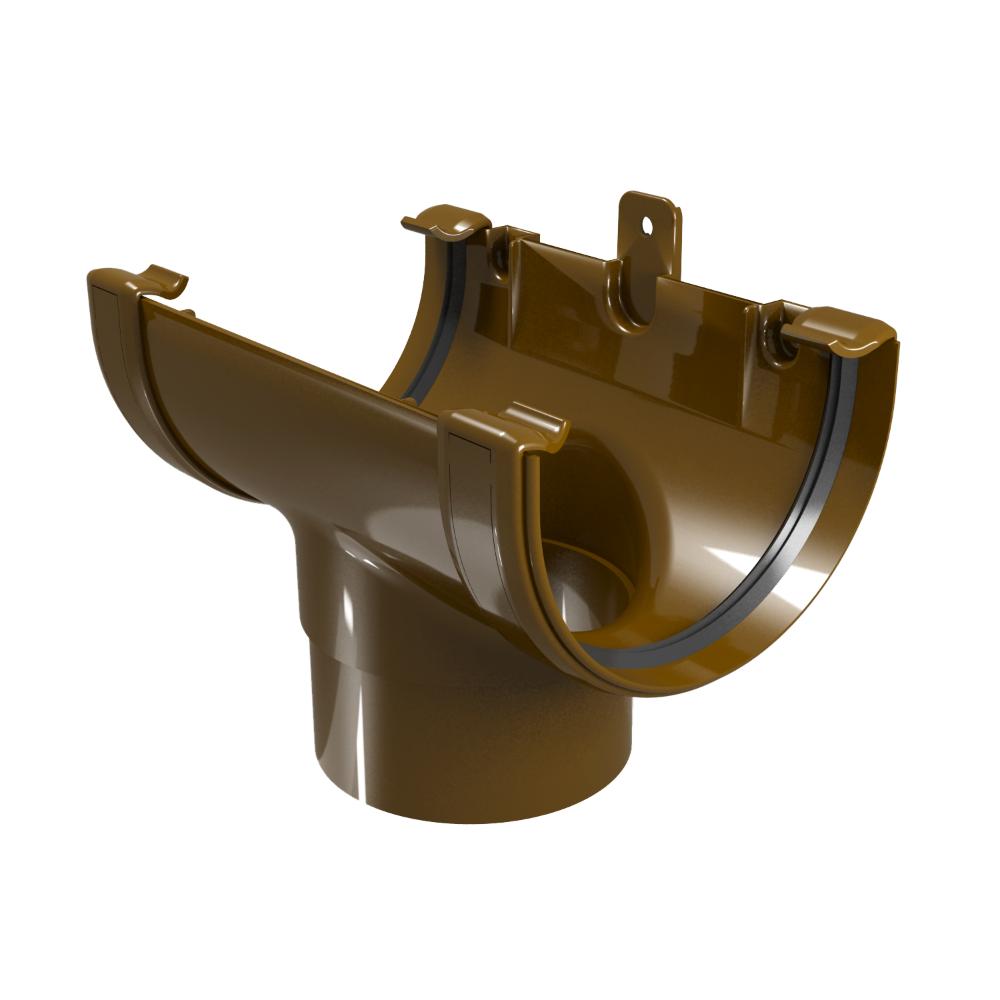 Racord jgheab – burlan, PVC, Regenau, 125/100 mm, maro RAL 8017 imagine 2021 mathaus