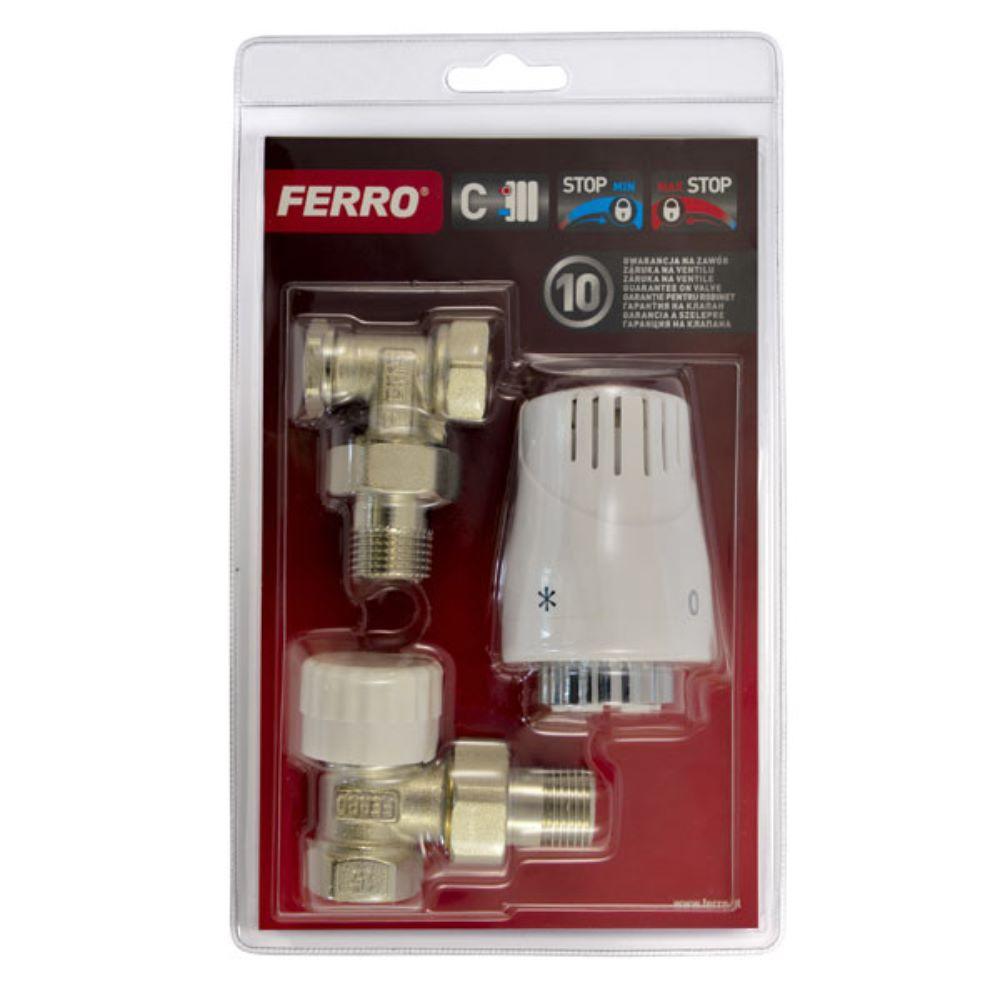 Set termostatic coltar Ferro ZTM02, 1/2 inch x 1/2 inch imagine 2021 mathaus