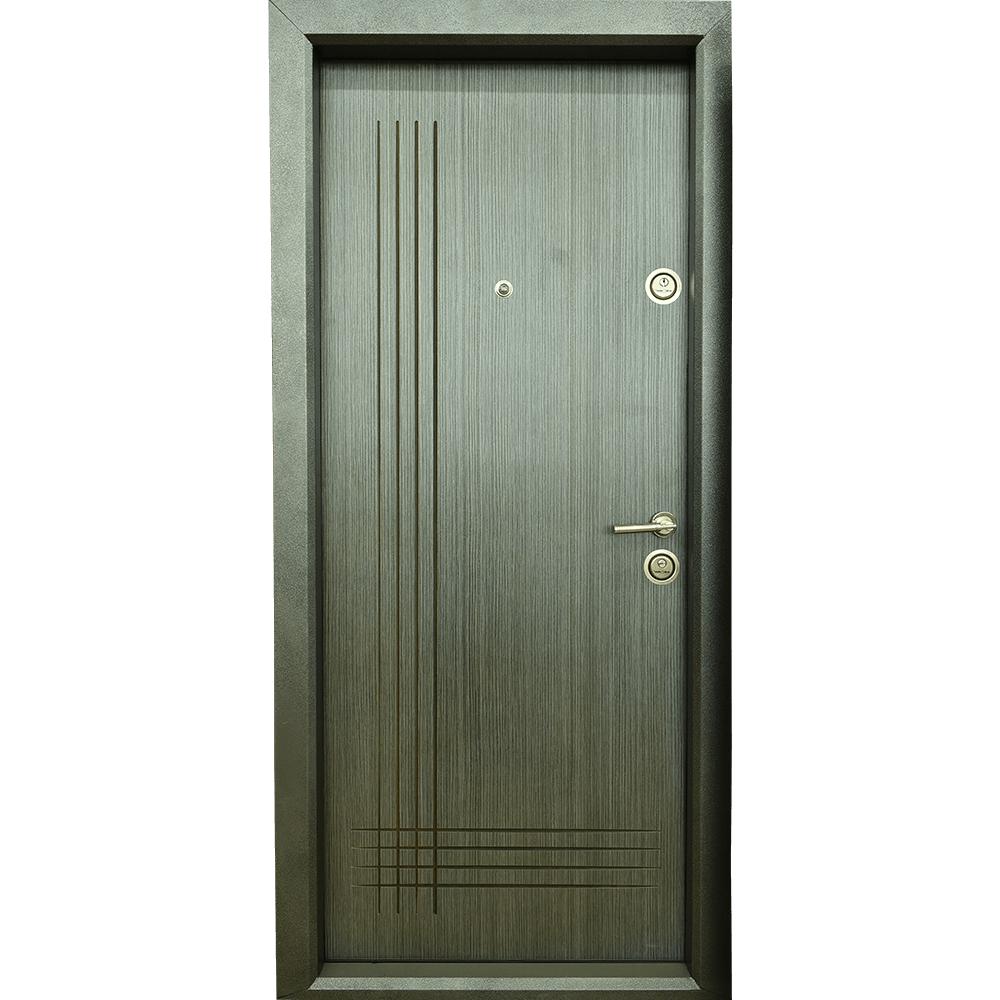 Usa metalica intrare Arta Door 333, cu fete din MDF laminat, 880 x 2010 mm, deschidere stanga, culoare gri mathaus 2021