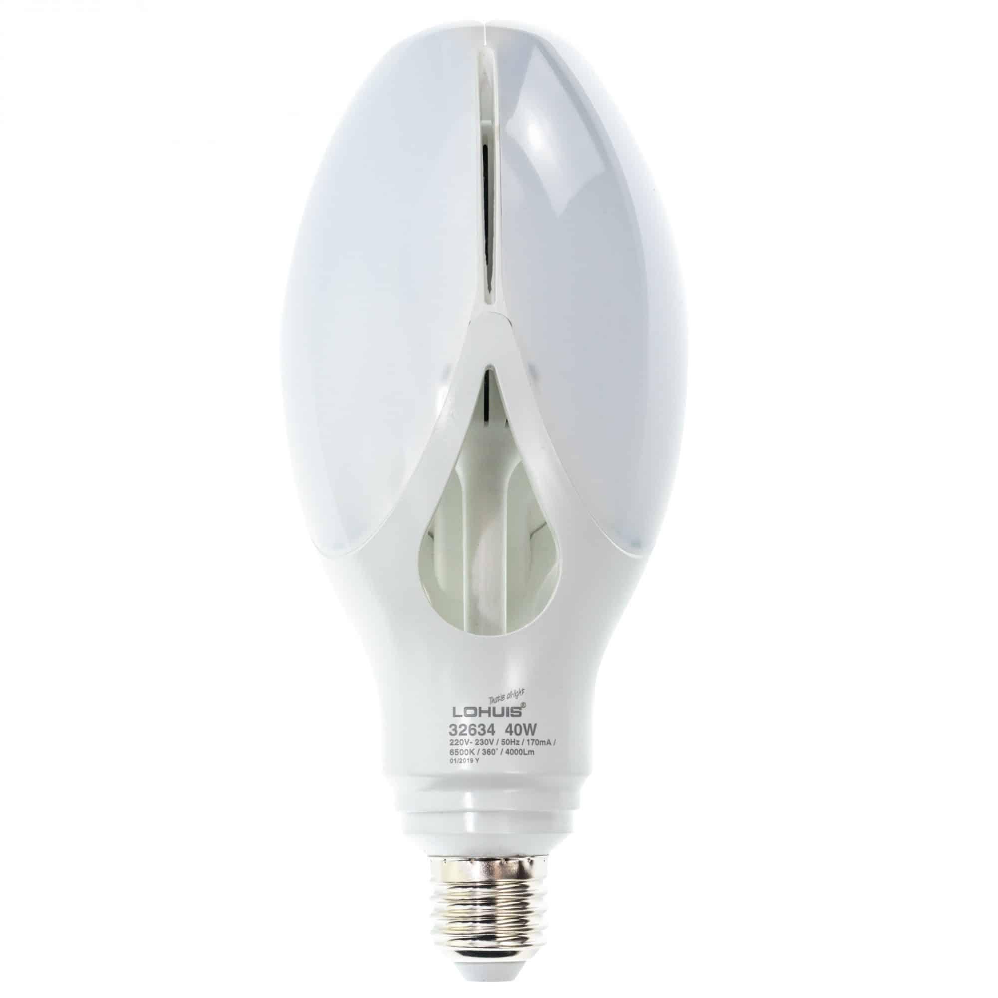Bec LED Lohuis Flower, E27, 40W, 4000 lm, lumina rece 6500 K mathaus 2021