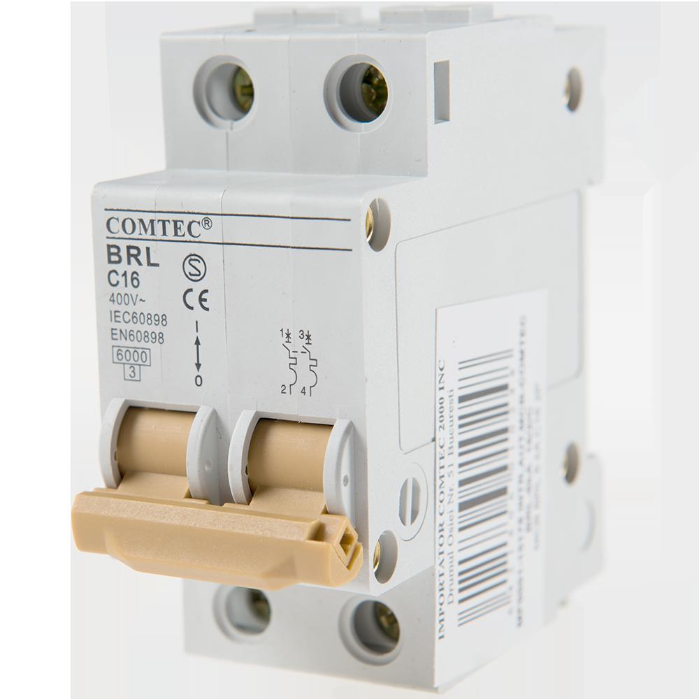 Intrerupator automat bipolar MCB 6kA 16/2/C