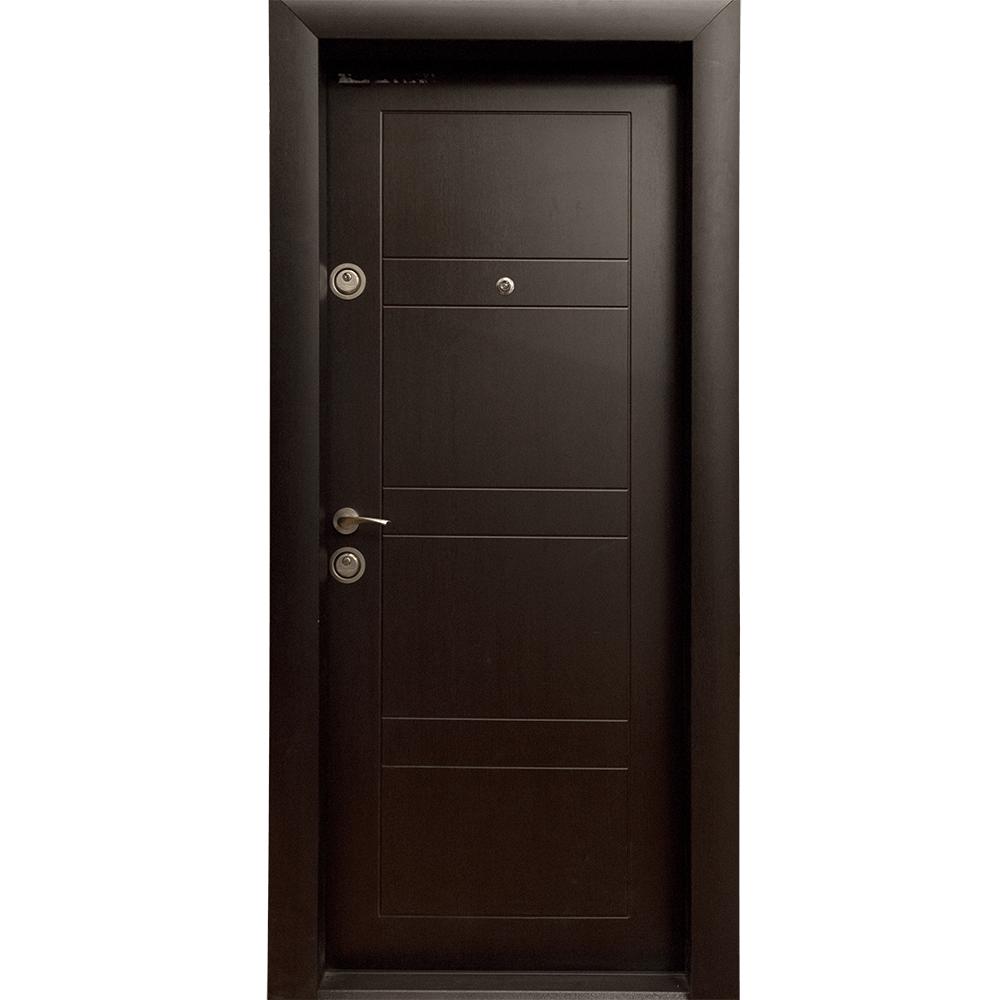 Usa metalica intrare Arta Door 310, cu fete din MDF laminat, deschidere dreapta, culoare wenge, 880 x 2010 mm mathaus 2021