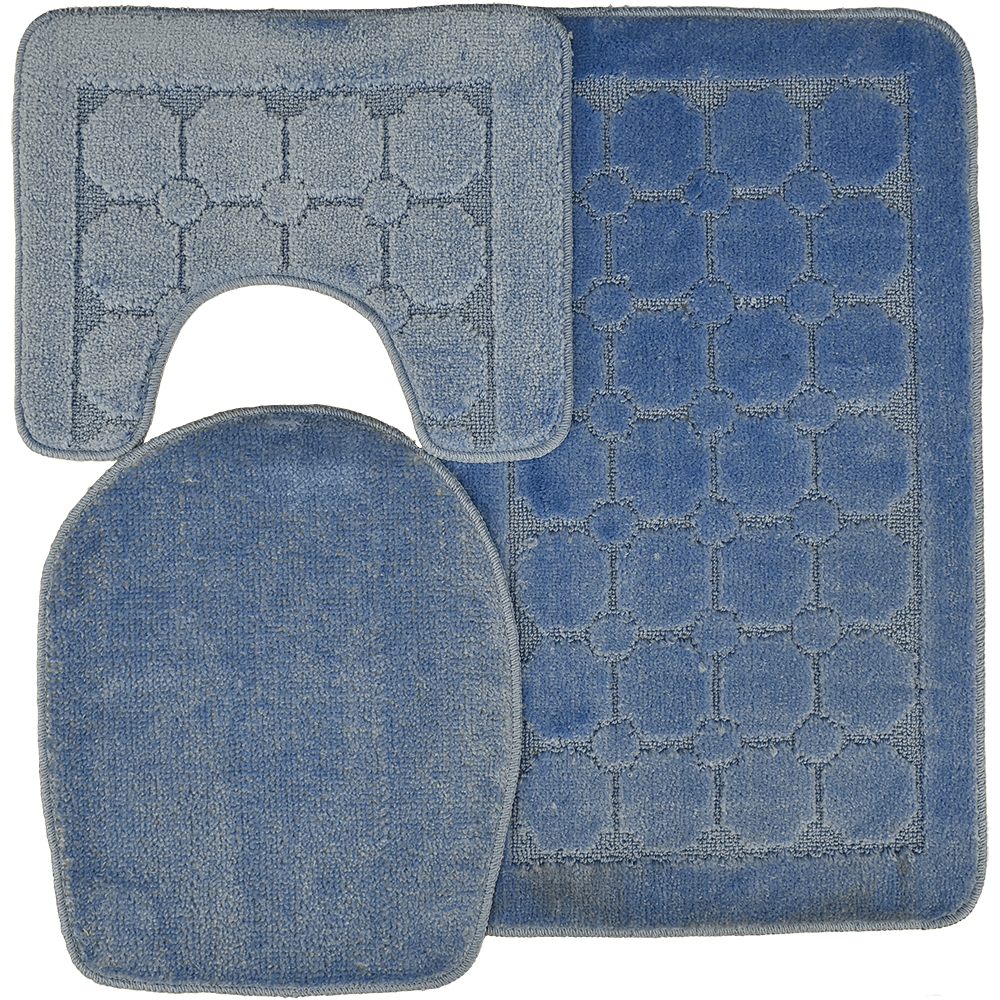 Set covorase baie Sanitec,  SN 435, poliester, albastru, 50 x 80 cm imagine 2021 mathaus