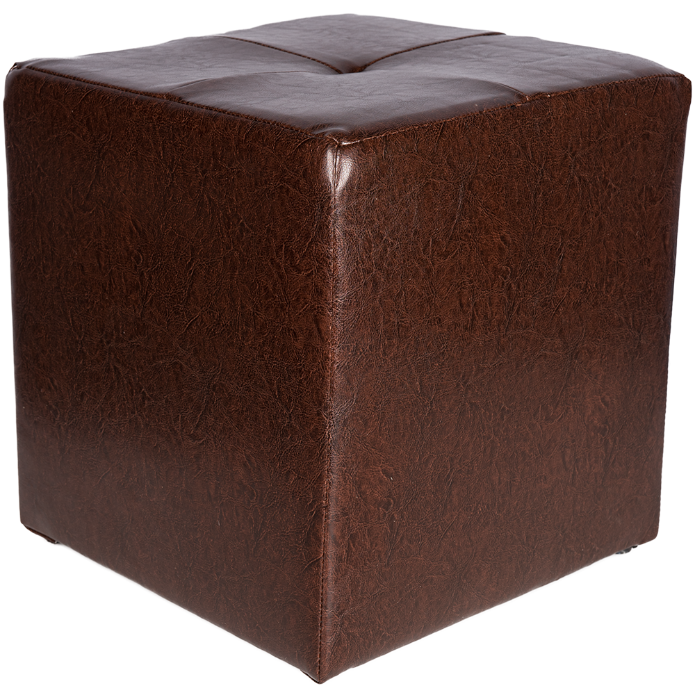 Taburet Cool tapiterie imitatie de piele, maro IP15611, 38 cm inaltime